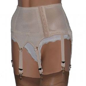 Vintage Style 8 Strap Suspender Belt with Plain Panels in 3 Colours